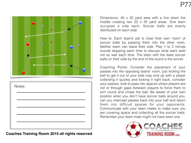 Youth Soccer passing session plan