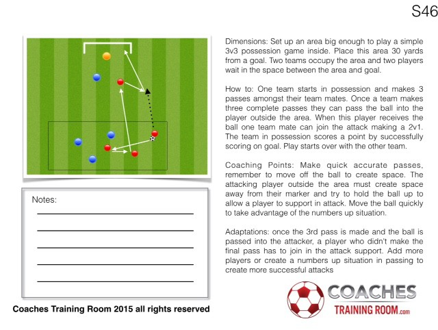 Midfield to Attack Transition Small Sided Game session plan