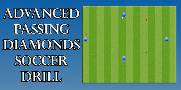soccer drills advanced passing diamonds soccer sessions