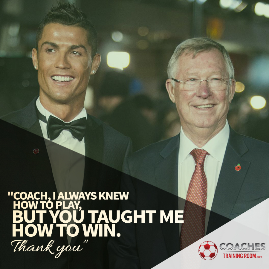 Cristiano Ronaldo Sir Alex Ferguson Soccer Coaching Drills