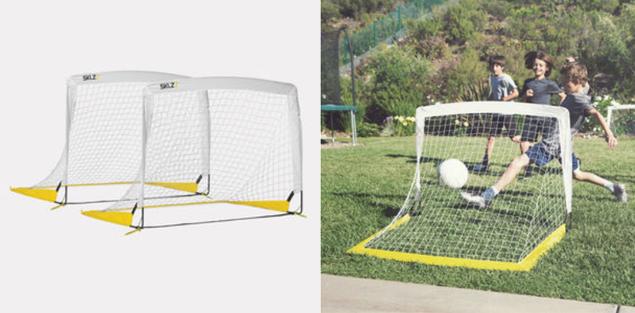 goal ee quick setup sklz soccer goal set small popup nets